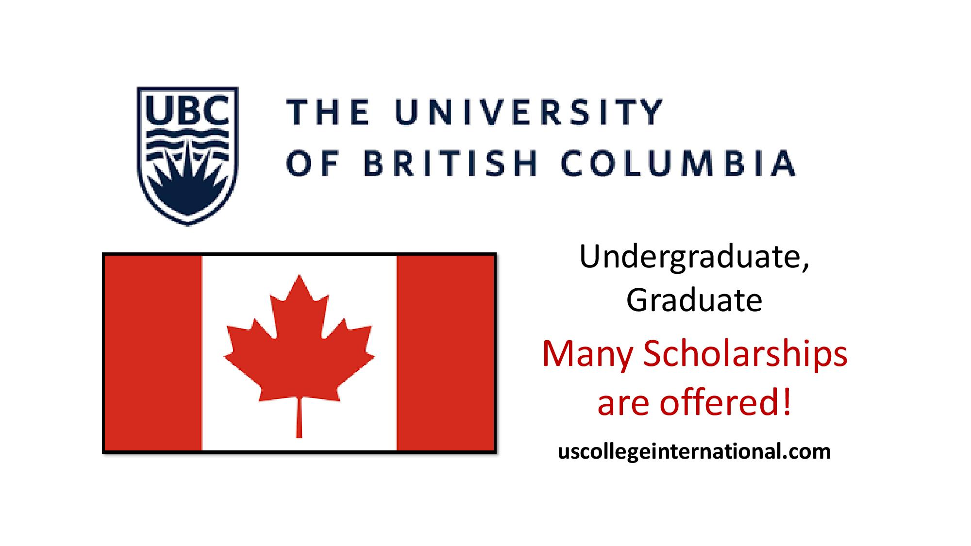 UBC International Merit Scholarships